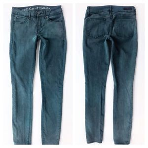Articles of Society Mya Skinny Jeans Emerald Green
